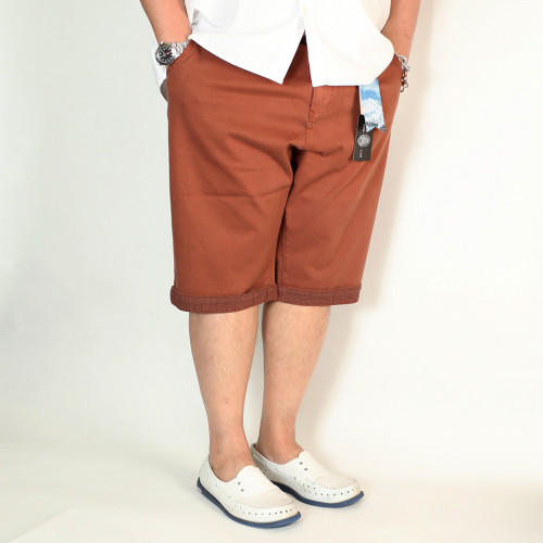 Striped Tailored Fit Shorts - Caramel