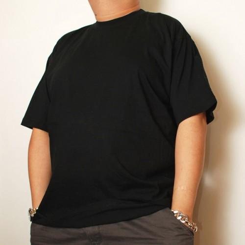 Cotton Short Sleeve Undershirt - Black