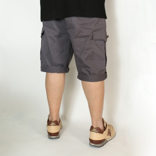Classic Fit Chino Cargo Shorts - Moody Grey
