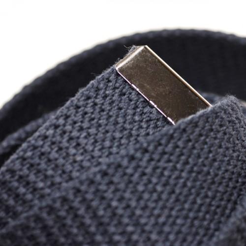 Long Casual Web Belt - Navy