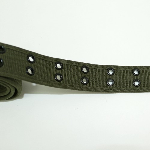 Canvas Double Hole Belt - Olive