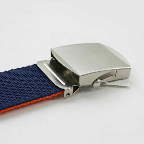 Extra Long Reversible Casual Belt - Navy/Orange