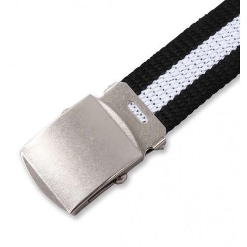 Extra Long Canvas Belt - Black/White