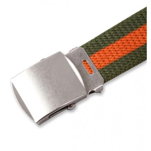Extra Long Canvas Belt - Green/Orange