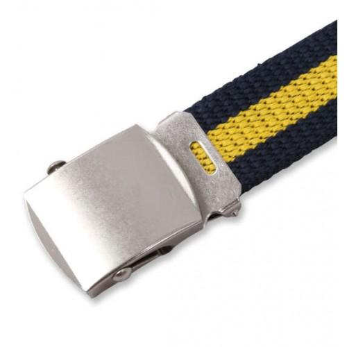 Extra Long Canvas Belt - Navy/Yellow