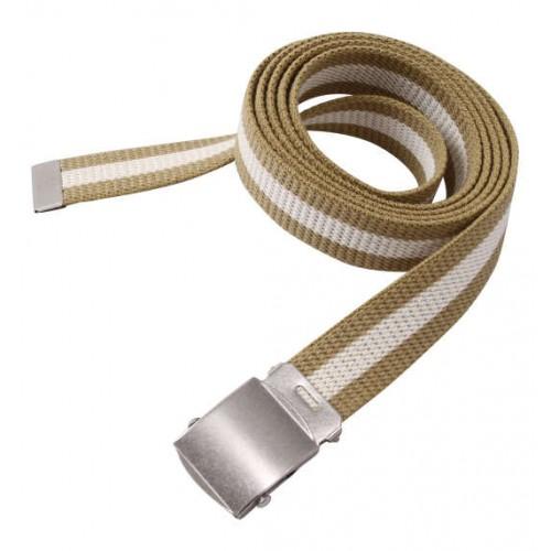 Extra Long Canvas Belt - Beige/White