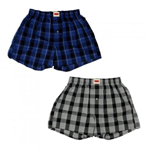 Check Pattern Boxer Set - Navy/Grey