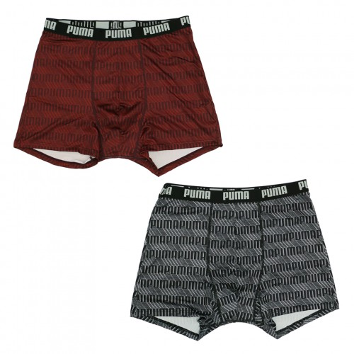 Classic Logo Soft Smooth Poly Boxer - Black/Red