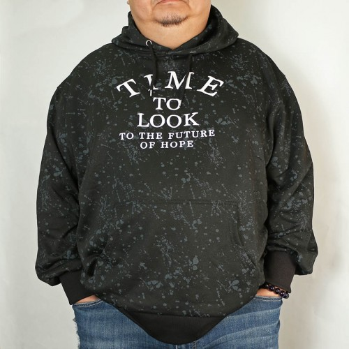 Time To Look To The Future Of Hope Hoodie - Black