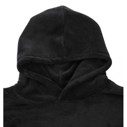 Double Side Cat Ears Switching Parka - Black