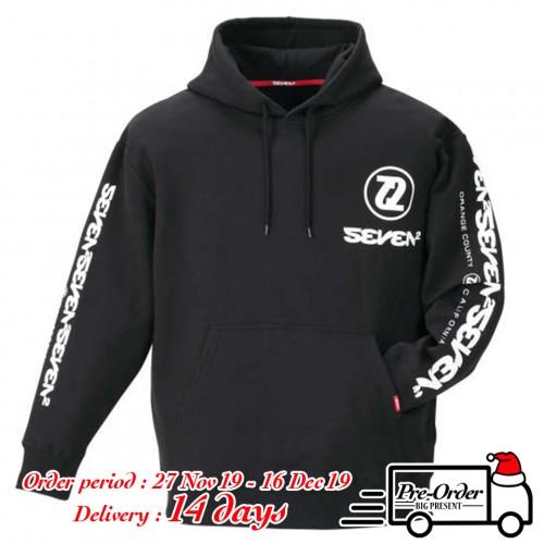 Simple Logo Pullover Hoodie - Black