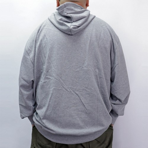 Plain Color Hoodie - Grey