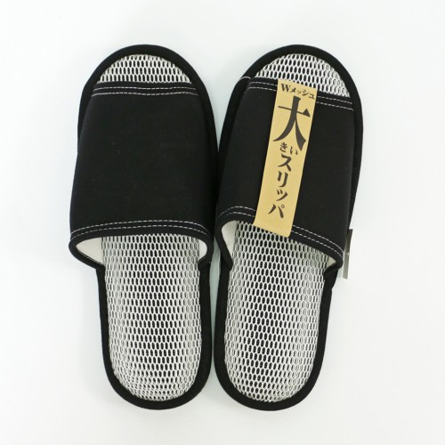 Big Size Refreshing Mesh Slippers - Black
