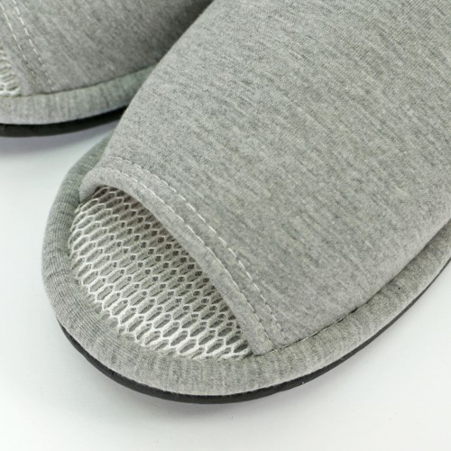 Big Size Refreshing Mesh Slippers - Grey