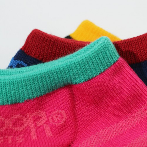 Colorful Border Ankle Socks - Multi