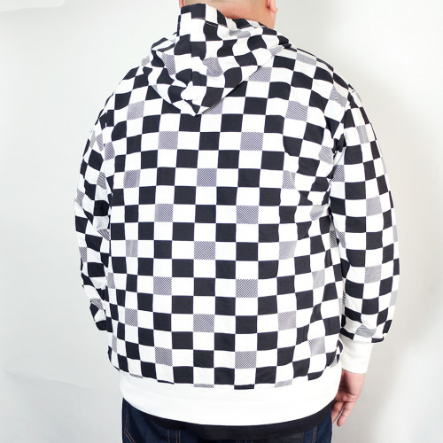 Checkers Hoodie - Black/White