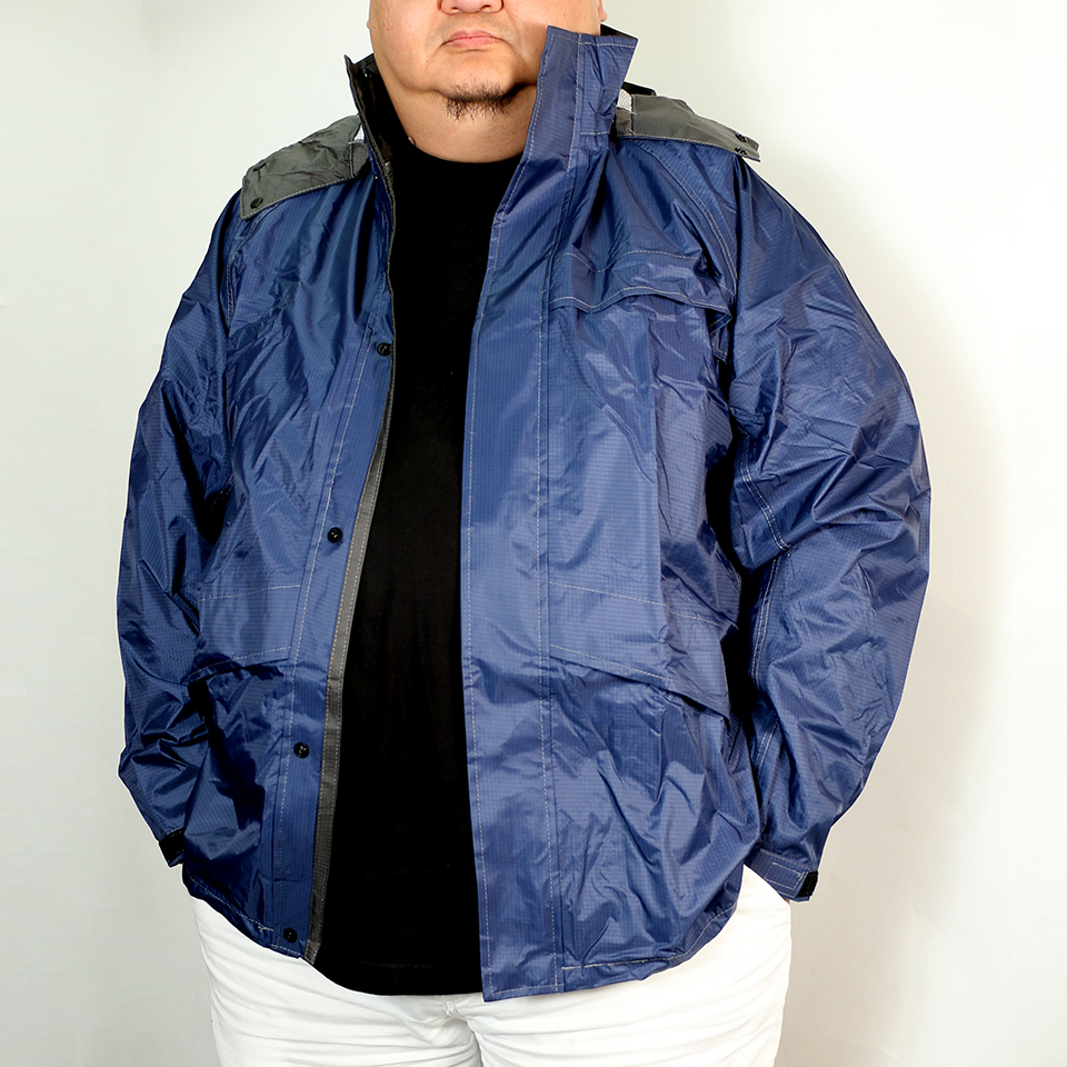 煌 (き ら め き) Rain Jacket - Navy
