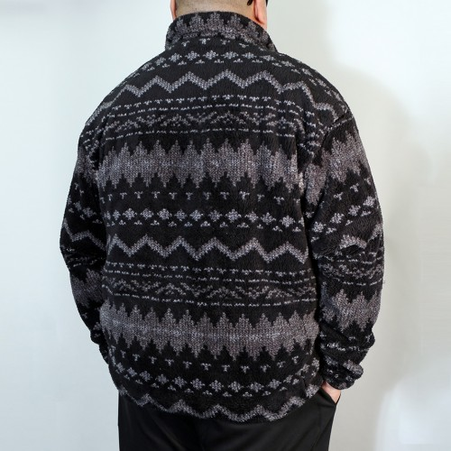 Back Mesh Boa Fleece Jacket - Fair Isle
