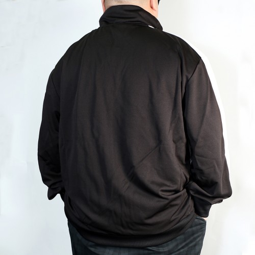 Contrast Side Track Jacket - Black