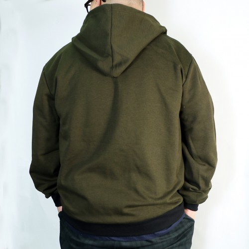Basic Full Tech Fleece Jacket - Olive