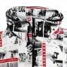 Photo Cardboard Volume Neck Jacket - White