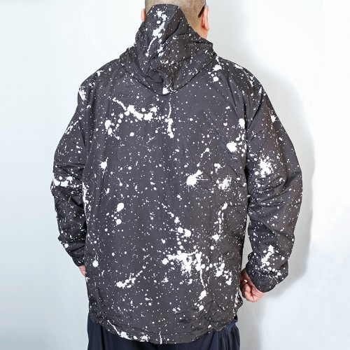 Hype Box Splatter Design Anorak Parka - Black