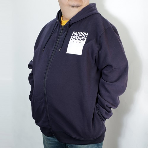 Soft Fleece Full Zip Hoodie - Navy
