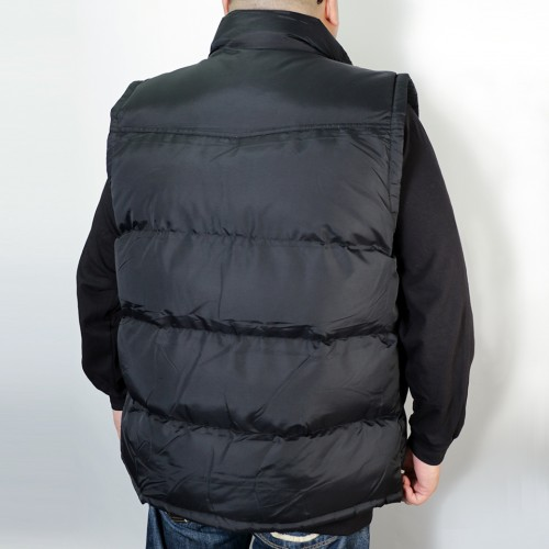Quilted Puffer Vest - Black