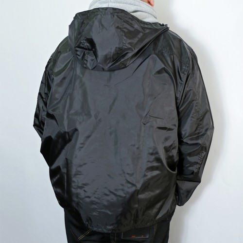Breathable Mesh Windbreaker - Black