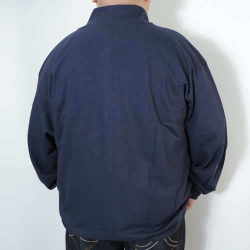 French Terry Track Jacket - Navy