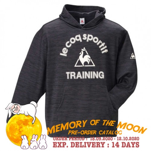 Front Logo Training Hoodie - Charcoal Heather