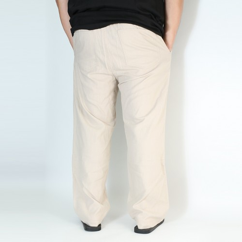 麻混 Easy Relax Pants - Khaki