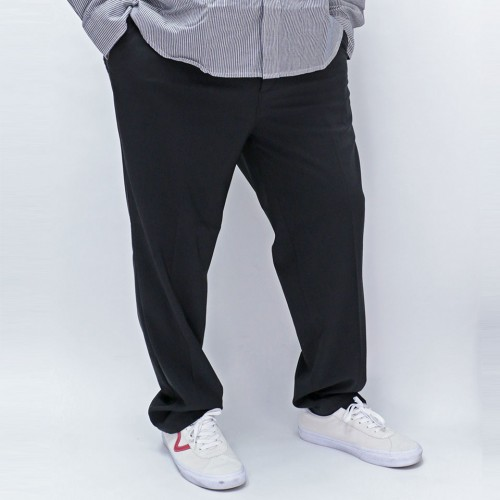 2 Way Stretch Tuck Ankle Pants - Black