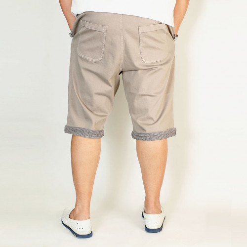 Striped Tailored Fit Shorts - Grey