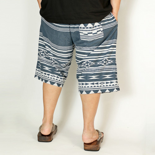 Ortega Pattern Shorts - Navy