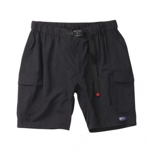 Nylon Climbing Cargo Half Pants - Black