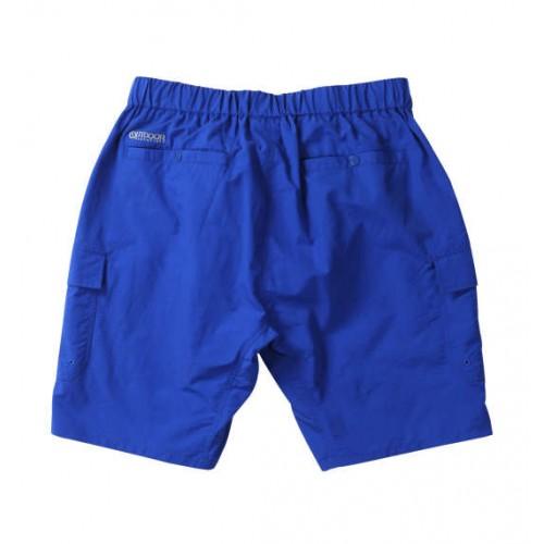 Nylon Climbing Cargo Half Pants - Blue