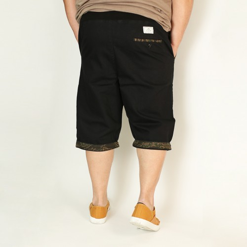 Drawstring Work Shorts - Black Camo
