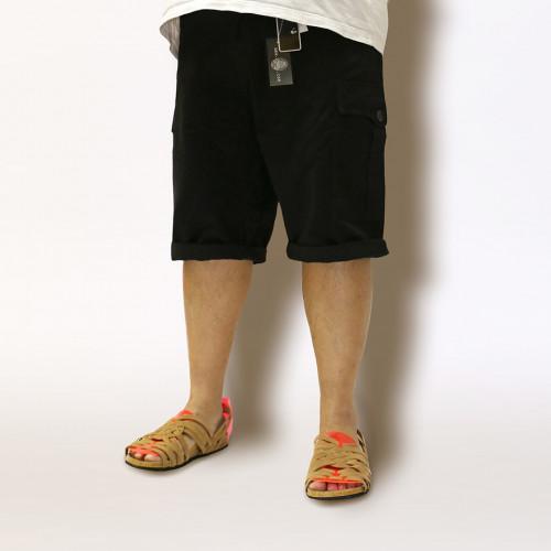 Classic Fit Chino Cargo Shorts - Ebony