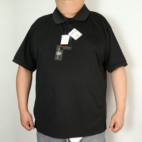Fast Dry & Deodorant Honeycomb Polo  - Black