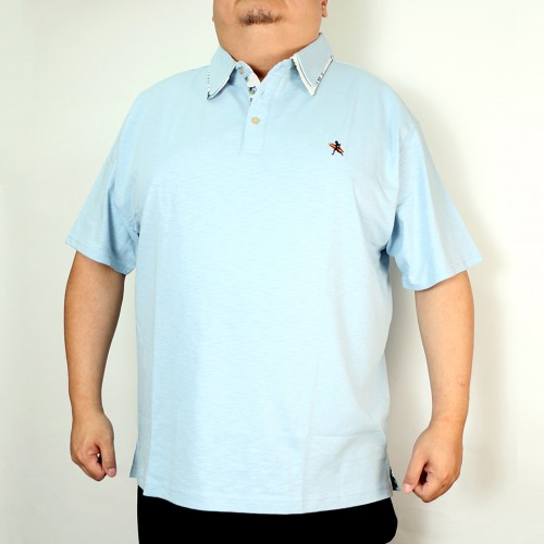 Slab Tenjiku Polo Shirt - Blue