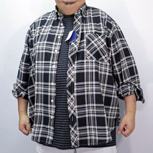 Checker L/S Button Down - Black/White