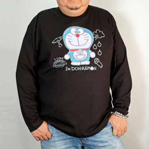 I'm Doraemon L/S Tee - Black