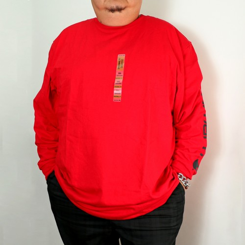 Original Fit Long Sleeve Tee - Red