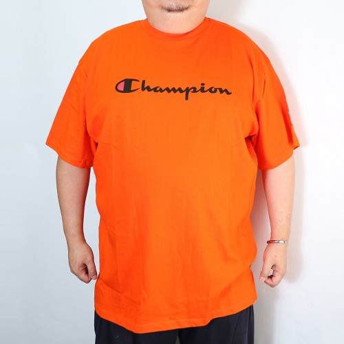 Retro Script Tee - Orange