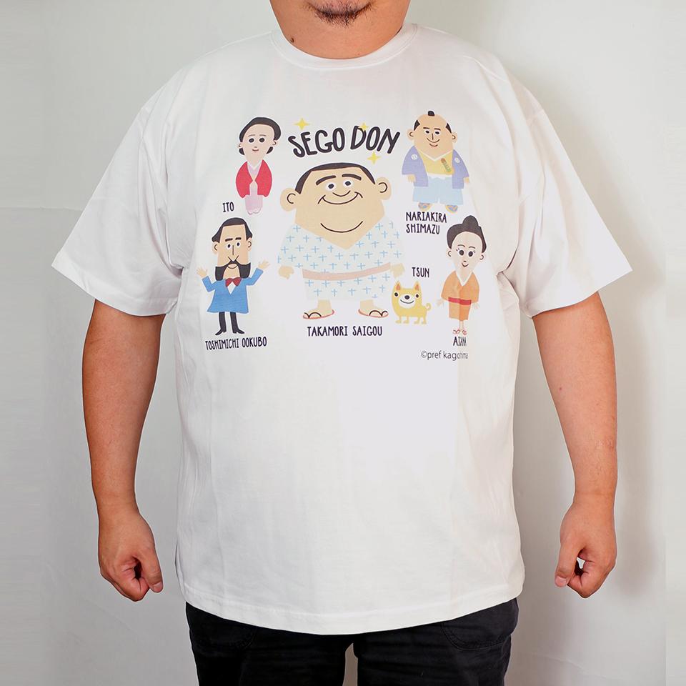 Saigo Den Characters Tee - White