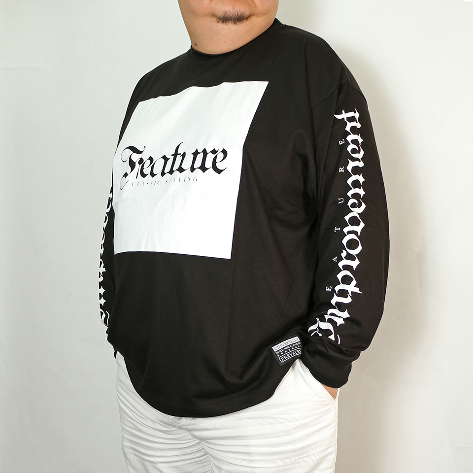 Feature Box Tee - Black