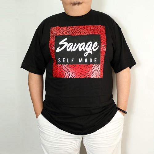 Savage Crackle Tee - Black