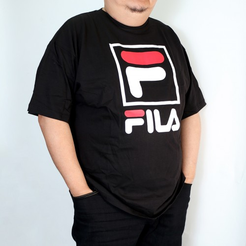 W/Square Fox Fila Tee - Black