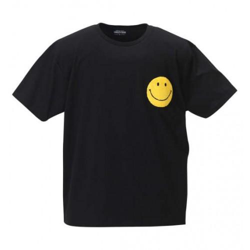 Sagara Embroidery Smiley Face Tee - Black